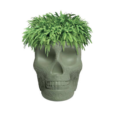 MEXICO PLANTER AND CHAMPAGNE COOLER  GREEN